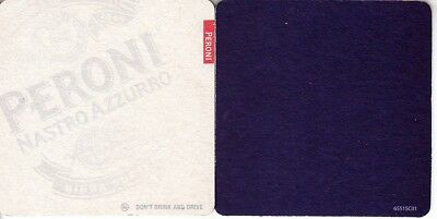 Peroni Nastro Azzurro - Dont Drink and drive Square Coaster - Beer mat
