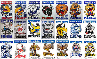 1997 - 2018 Herald Premiers Weg and Knight Premiership poster X 22 posters