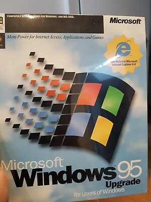Microsoft Windows 95 Upgrade CD Sealed Box , New Old Stock