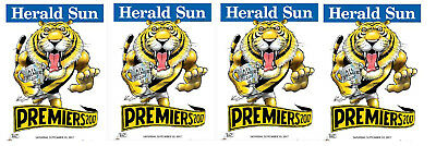 4 X 2017  Richmond Premiers Herald Knight posters Premiership Poster