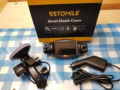 VETOMILE R310 HD Dash Cam Dual Lens 270°Wide Angle With G-sensor, Car DVR Night