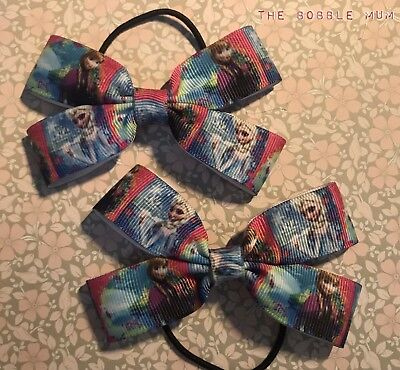 Frozen Girls Hair Bow Bobble Set Clothing, Shoes & Accessories