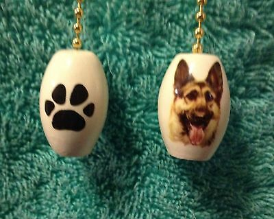 """One German Shepherd Dog fan pull with a paw print on the back 1"""""""