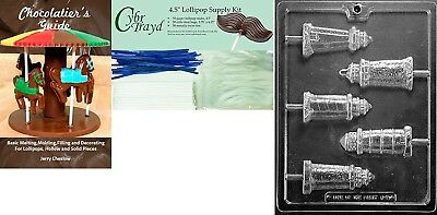 """Cybrtrayd """"Lighthouse Lolly"""" Nautical Chocolate Mould with Chocolatier's"""