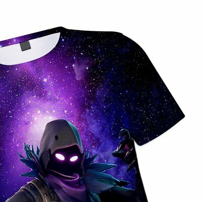 Plug Size 3D Game Floral Printed Short Sleeve Adult Children T-Shirt Tops
