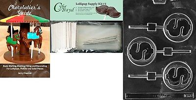 """Cybrtrayd """"Dollar Sign Lolly"""" Miscellaneous Chocolate Mould with Chocolatier's"""