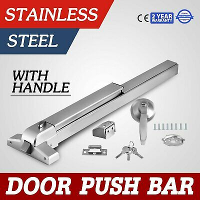 Door Push Bar Durable Panic Exit Device Lock With Handle Emergency Hardware WI88