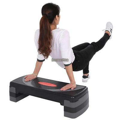 Workout Aerobic Stepper Yoga Step Board Gym Fitness Exercise Cardio Adjustable