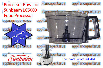 Sunbeam LC5000 LC6000 Food Processor Bowl - LC50011 - NEW - GENUINE - IN STOCK
