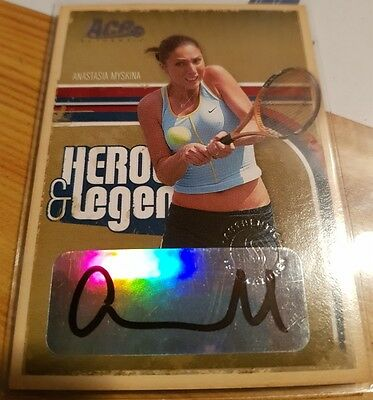 2006 Anastasia Myskina Ace Authentic Heroes & Legends Auto Autograph #217/225