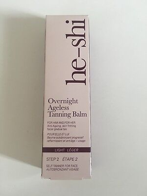 He-Shi Overnight Ageless Tanning Balm 50ml - BNIB - Light NEW IN BOX