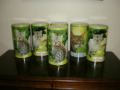 Brand  New  6  Large  Empty  Tins