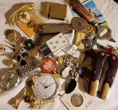 Grandpa's Dresser Drawer- Lot of Misc. Men's Collectible Vintage Items 1930s --?