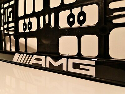 2 x Mercedes AMG Number Plate Surrounds Holder Frame New For Cars