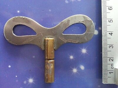 Size 5 Antique Vintage Clock Winding Key Mantle Grandfather 6Cm Long Winder