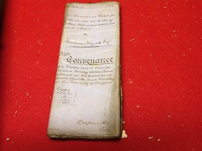 Old Staffordshire Document 1878 Bradley  Doxey Wood Farm J Ellsmoor , T Myatt