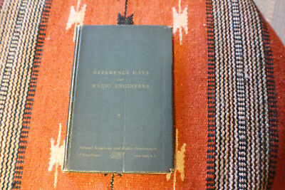 Vintage 1944 Reference Data for Radio Engineers 1st ed, 3th printing ITT book