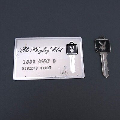 Vintage Playboy Club Key & Card