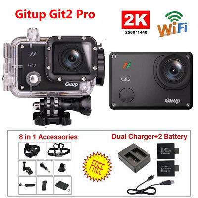 2K WIFI Gitup Git2 Pro Action Camera Waterpoof Video DVR FHD+Accessories+Battery