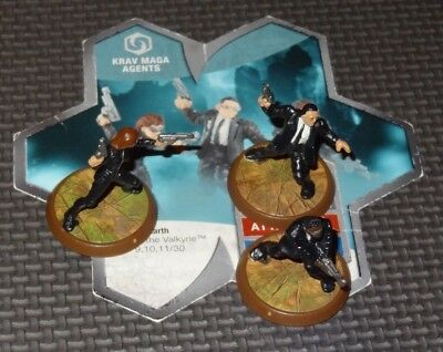 KRAV MAGA AGENTS - Heroscape Rise of the Valkyrie Figures & Card Used Condition
