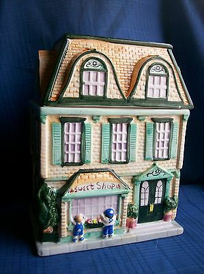 Sherwood Cookie Jar Ceramic Sweet Shop Village