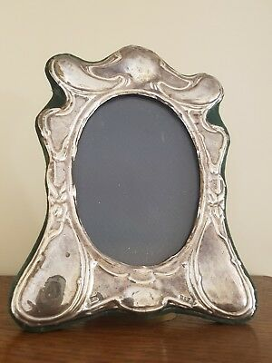 """Antique sterling silver picture frame 8"""" x 6"""" English hallmarks"""