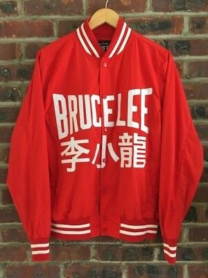 ROOTS OF FIGHT Bruce Lee Stadium Jacket Small Streetwear Supreme Limited  Edition
