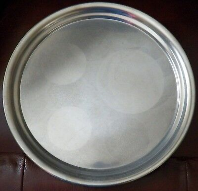 Vintage Queen Art Pewter Tray Danish Quality Made in USA Large Round Tray #465