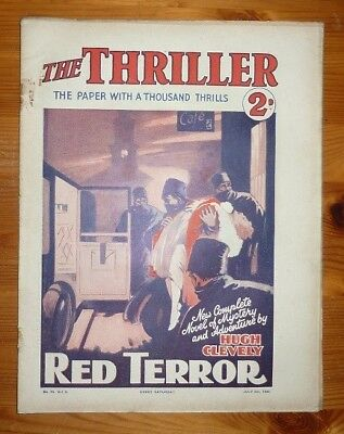 THE THRILLER No 74 Vol 3 5TH JULY 1930 RED TERROR BY HUGH CLEVELY
