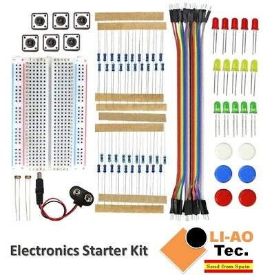 Electronics Starter Kit for Arduino UNO R3 Breadboard LED Jumper Wire Button