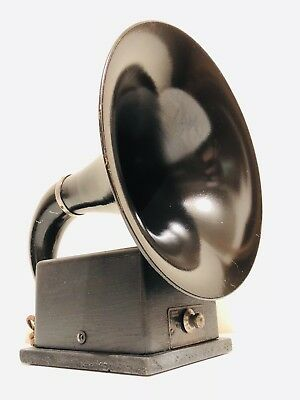 Vintage 1924 Dicto Grand Dictograph Antique Small Horn Radio Speaker Works