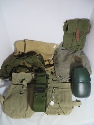Iraqi Army Field Gear lot OIF vintage Original salty marked 7 items one auction