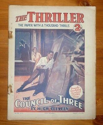 THE THRILLER No 102 Vol 4 17TH JAN 1931 THE COUNCIL OF THREE BY HUGH CLEVELY