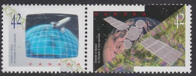 Canada 1992 #1442a Canada in Space - se-tenant pair MNH (hologram at left)