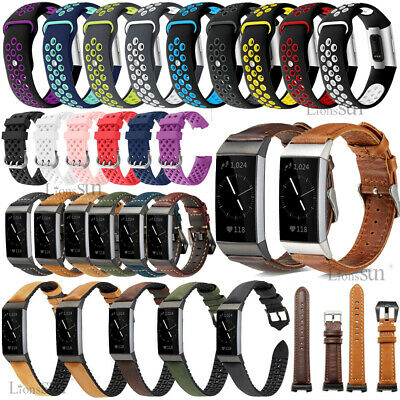 for Fitbit Charge 3 Watch Strap Replacement Breathable Sports Soft Band Bracelet