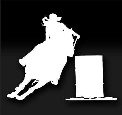 BARREL HORCE RACING Western Country Rodeo Oracal Vinyl Sticker Decal