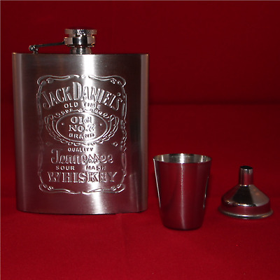 Jack Daniels Flachmann 7oz (~210ml) stainless steel neu