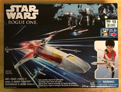 Star Wars Rogue One Vehicle Playsets Rebels X-Wing Fighter 4laser cannons