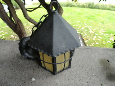 Antique Arts Crafts Mission Porch Ceiling Light Fixture Old Cottage