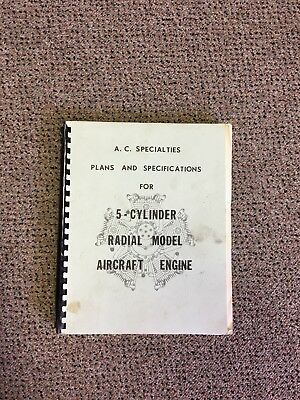 AC Specialties Plans And Specifications For 5 Cylinder Radial Aircraft Engine