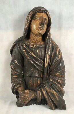 Exceptional Large 18th C. Italian Polychrome Carved Wood Saint Mary Magdalene