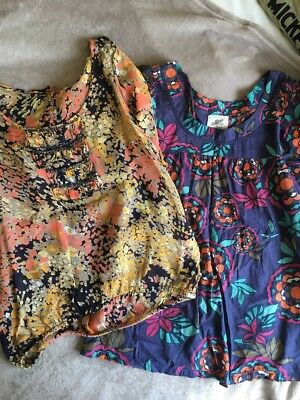 JOBLOT BUNDLE Blouse Top Shirt RIVER ISLAND NEW LOOK Floral Size 8 Polka