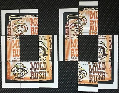 Topps Wacky Packages Mold Rush 6th-Series Puzzle Cards - Lot of 17