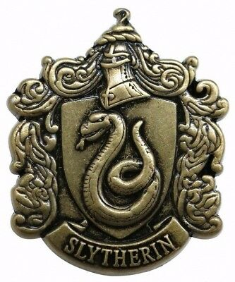 Harry Potter House of Slytherin Crest Metal Pin Badge