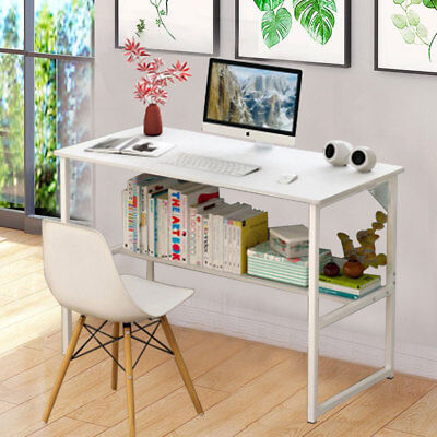Computer Desk PC Table Workstation Home Study Writing Office Furniture W/Shelf