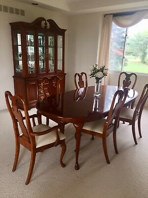 Formal Dining room set by American Drew Table, Chairs, China Cabinet