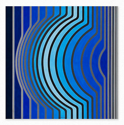 Victor Vasarely  Sir-Ris-BB   60x60 cm STAMPA TELA CANVAS PRINT TOILE LIENZO