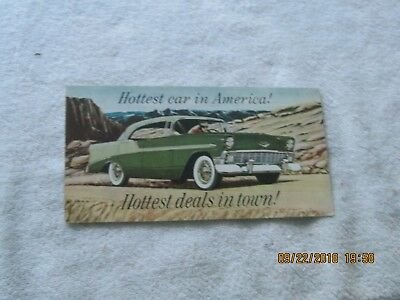 Nos 1956 Chevrolet Belair Dealership Handout Blatt Chevrolet Milford Virginia