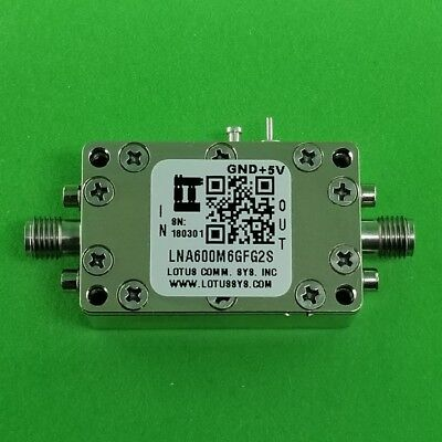 Low Noise Amplifier 0.9dB NF 600M ~ 6GHz 39dB Gain 19dBm P1dB - 2 Stage