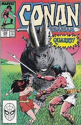 Conan The Barbarian #210 Marvel Comics 1988  VG/FN